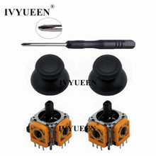 IVYUEEN 2 Sets for Dualshock 4 PS4 PRO Slim Controller 3D Analog Stick 3 Pin Sensor Module Potentiometer with ThumbSticks Caps(China)