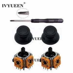 IVYUEEN 2 Sets for Dualshock 4 PS4 PRO Slim Controller 3D Analog Stick 3 Pin Sensor Module Potentiometer with ThumbSticks Caps(China)