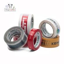 Ruban adhésif Transparent imprimé avec logo de société, 150m, long, 10 pièces/lot, 45mm de largeur, livraison gratuite par DHL