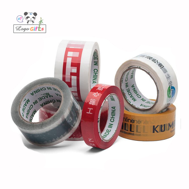 Transparent Free company logo imprinted Adhesive Tape 150m long tape 10pcs/lot 45mm width package glue tape free ship by DHL