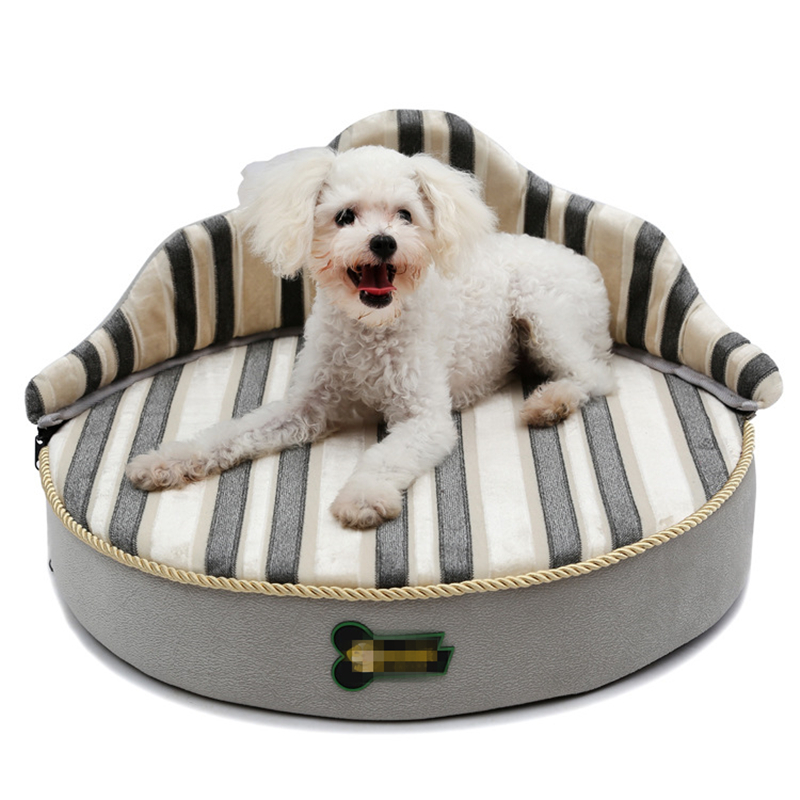 Pet Sofa Dog Beds Waterproof Bottom Soft Fleece Warm Cat Bed House