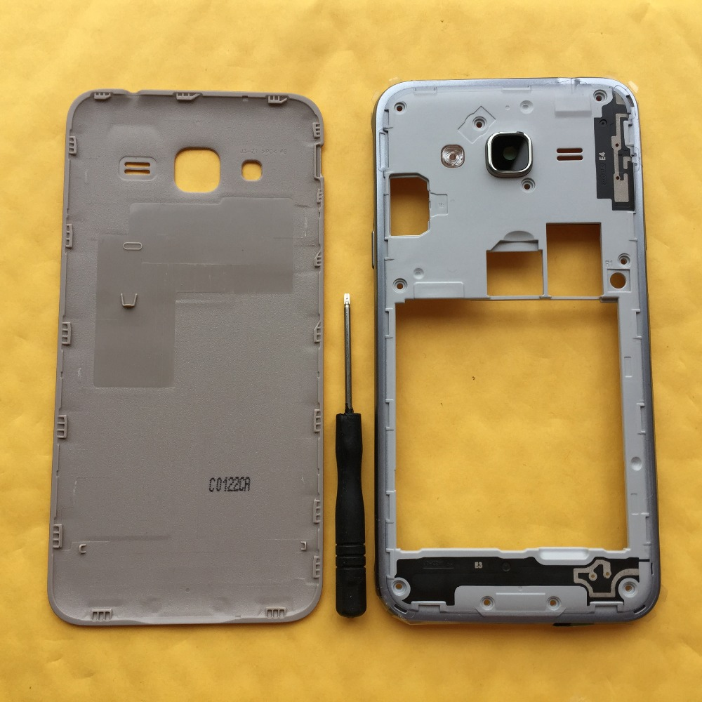 For Samsung Galaxy J3 2016 J320 J320F J320H J320M J320FN Original Phone Middle Frame Back Battery Cover Housing Chassis Case