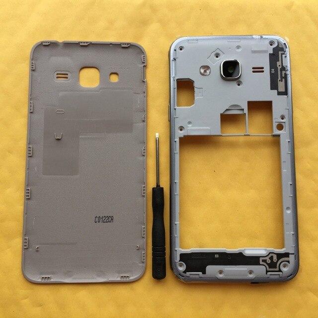 עבור סמסונג גלקסי J3 2016 J320 J320F J320H J320M J320FN מקורי טלפון התיכון מסגרת חזרה סוללה כיסוי דיור מארז מקרה