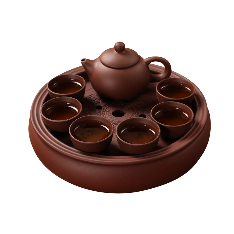 Chinese 8PCSTea Set puer black tea and oolong ltea pot Hot sales yixing teapot clay handmade Beautiful and easy teapot Chinese 8PCSTea Set puer black tea and oolong ltea pot Hot sales yixing teapot clay handmade Beautiful and easy teapot