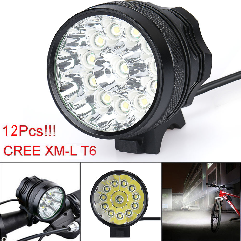 Bicycle Accessories Headlight Flashlight 30000 Lm 12x CREE T6 LED 3 Modes Bicycle Lamp Bike Light Headlight Cycling Torch zinuo 3 x cree xm l t6 led bicycle bike headlight head light lamp torch flashlight