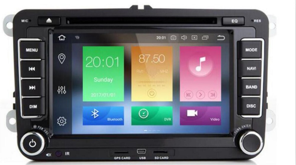 1024*600 android 8,1 автомобильный dvd gps навигация для skoda Фольксваген amarok Жук bora caddy CC EOS jetta Поло кролик sharan gps