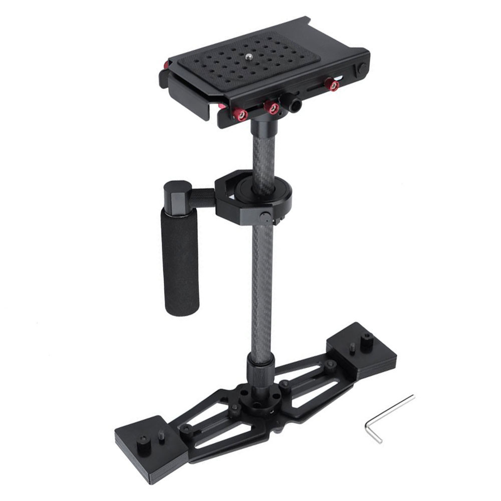 Lightdow S700 67CM Professional Handheld Stabilizer Carbon Fiber Camera Steadicam for Canon Nikon Sony DSLR Cameras Camcorder sf 04 mini handheld carbon fiber video camera stabilizer grip with quick release plate for sony pentax canon nikon dslr cameras