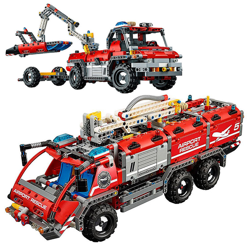 2018 New LEPIN 20055 Technic Mechanical Series The Rescue Vehicle Set Children Educational Building Blocks Bricks Toys 42068 the rescue