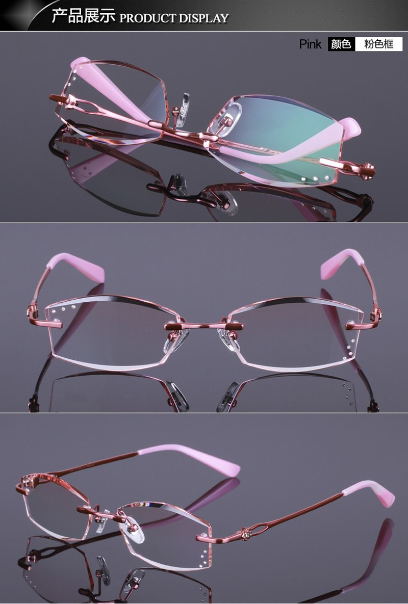 7691f3bcc47 ... Men Women Clear Lens Eye Glasses Frames Myopia Female Spectacle FramesUSD  40.00 piece. pink red gold purple
