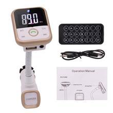En el Bluetooth Kit de Coche Reproductor de MP3 Transmisor FM Inalámbrico de Manos Libres de Radio Adaptador Con LCD de Control Remoto Para SmartPhone
