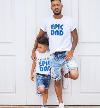 Us 7 64 49 Off Father S Day Family T Shirts Dad And Me Matching Outfits Epic Dad Father Son Clothes T Shirt Family Look Family Matching Clothes In