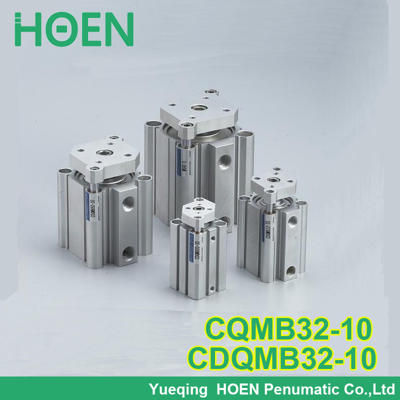 CQMB32-10 CDQMB32-10 CQM series 32mm bore 10mm stroke compact guide rod cylinder double-acting single rod pneumatic cylinders general model cxsm32 50 compact type dual rod cylinder double acting 32 40mm