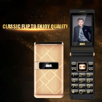 Flip Large Touch Screen Plastic Senior Cell Mobile Phone For Old People One Key Torch External FM Big Russian Key Dual Sim BLT61