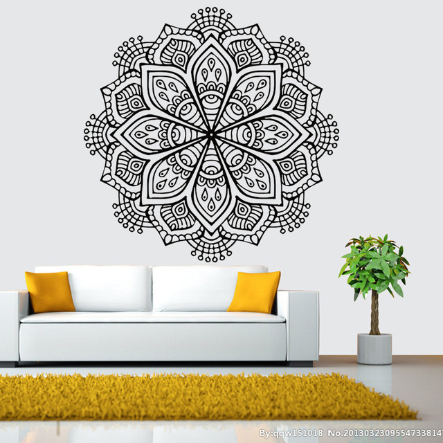 Aliexpresscom Buy Buddhist Art Wall Stickers India Mandala