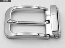 New arrival top quality men DIY Leathercraft Hardware 1-3/8''( 35mm) Silver Buckle Belt Buckle