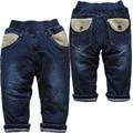 3798 новая зимняя очень теплые повседневные брюки мальчики девочки детские джинсы хлопка мягкой брюки телесности повседневная брюки