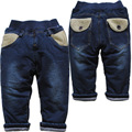 3798  new  winter very  warm   casual  pants boys girls  baby   jeans   cotton-padded trousers bodiness casual  pants