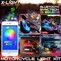 X-LUZ Teléfono Inteligente Bluetooth control de App Acento LLEVÓ Las Luces de Tira de NEÓN de La Motocicleta Kit Para Suzuki Hayabusa GSX-R