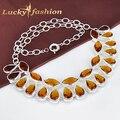 Free shipping Saint Valentine's Day gift elegant colar women  jewelry statement necklace