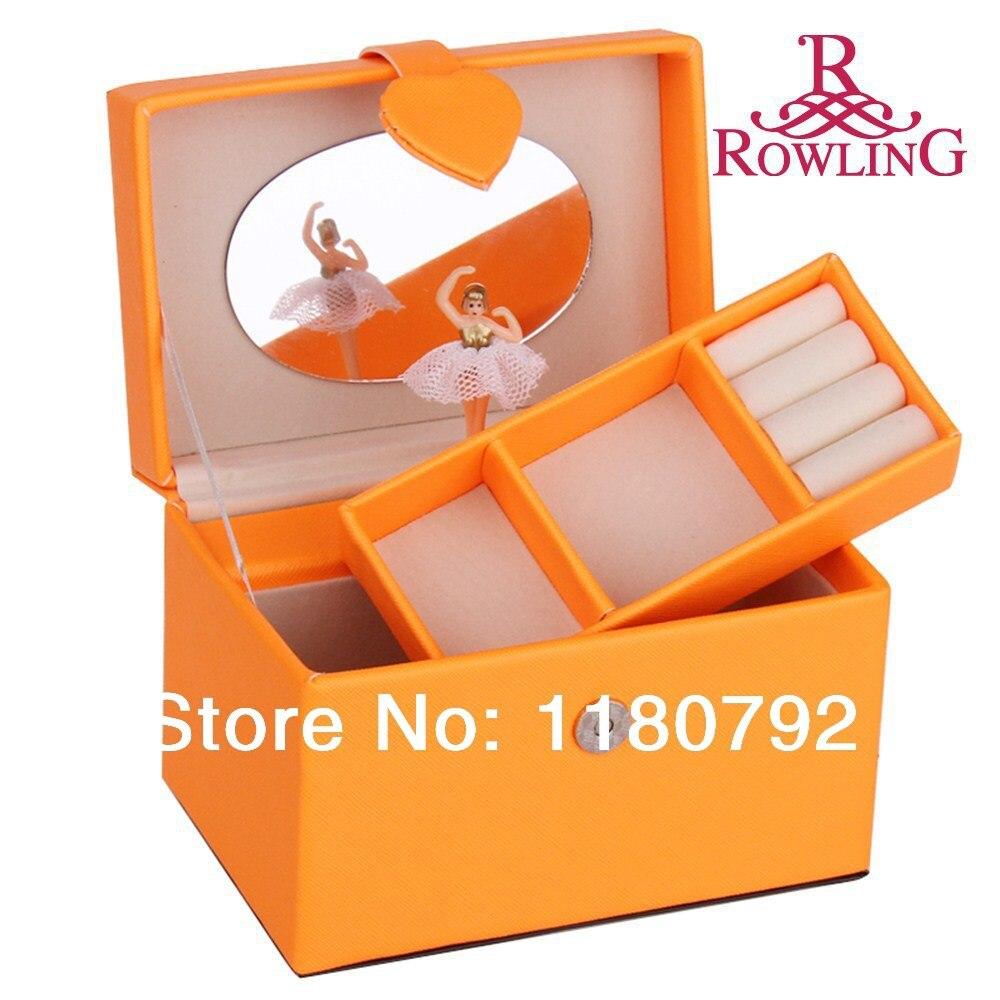 ROWLING Musical Box Spinning Ballerina Jewelry box Girl Birthday
