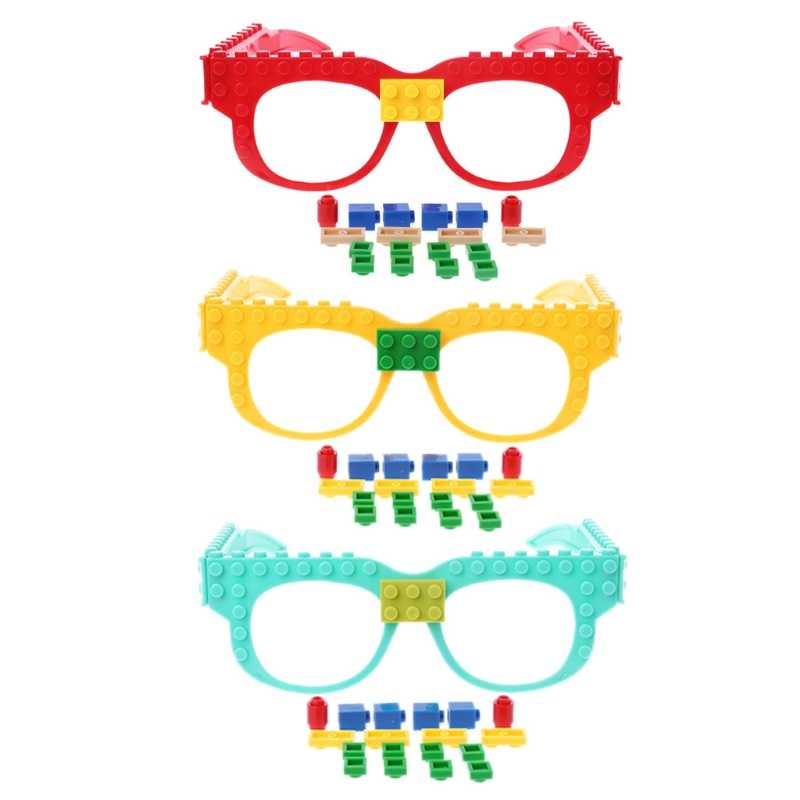 New Glasses Blocks Baseplate DIY Toy Glasses Frame Brick Compatible With Legoed