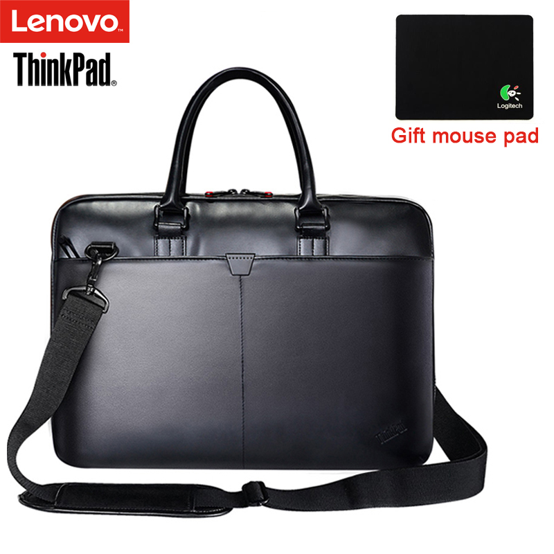 Lenovo ThinkPad Laptop Bag Leather Shoulder Bags Men and Women Handbag Briefcase T300 For 15.6 inch and Below Notebook Laptop jacodel business large crossbody 15 6 inch laptop briefcase for men handbag for notebook 15 laptop bag shoulder bag for student