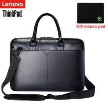 Lenovo ThinkPad Laptop Bag Leather Shoulder Bags Men and Women Handbag Briefcase T300 For 15.6 inch and Below Notebook Laptop(China)