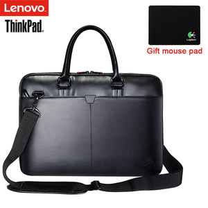 Lenovo ThinkPad Laptop Bag Leather Shoulder Bags Men and Women Handbag Briefcase T300 For 15.6 inch and Below Notebook Laptop