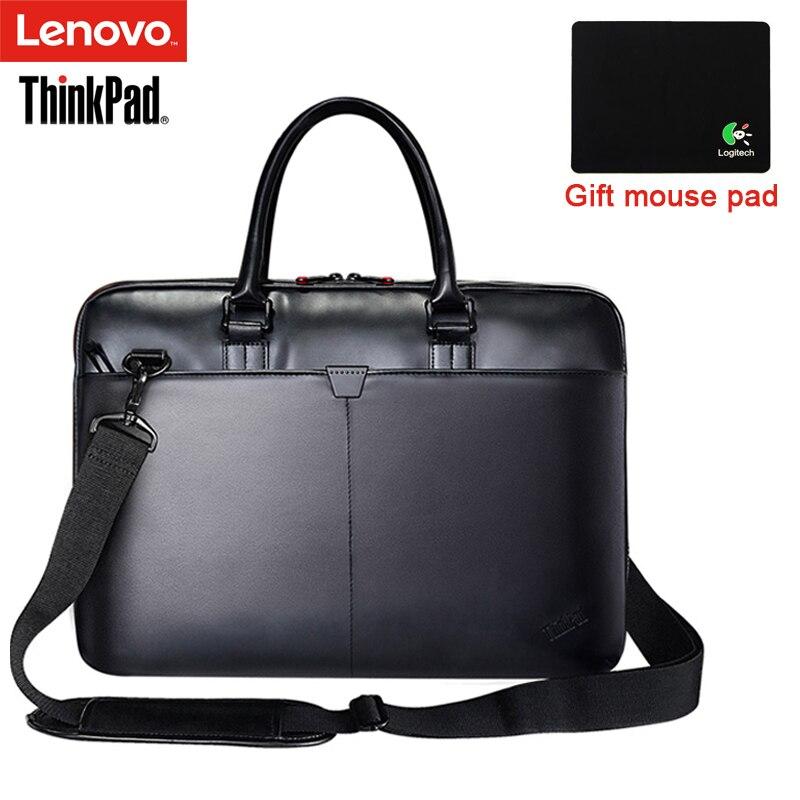 Lenovo ThinkPad Laptop Saco Sacos de Ombro de Couro Dos Homens e Das Mulheres da Bolsa Maleta T300 Para 15.6 polegada e Abaixo Notebook Laptop