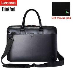 Lenovo ThinkPad Portátil Bolsa de hombro de cuero de los hombres y las mujeres bolso maletín T300 para 15,6 pulgadas y a continuación portátil