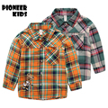 Pioneer Kids 2017 New Year 3-9T Boys Shirts Cotton Fashion Children Clothing High Quality School Uniform Shirt Boy Girls Blouses