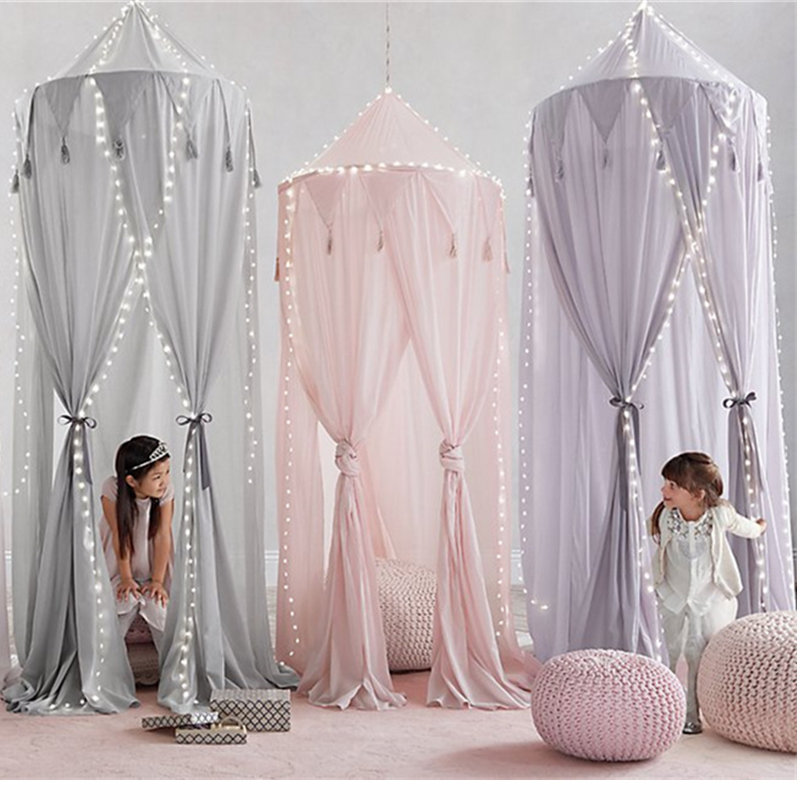 Kids Play Tent Portable Toy Tents Game House Indoor Crib Netting Toy Teepee Child Baby Tent Room Canopy Bed Curtain Hung Dome restoration hardware play canopy