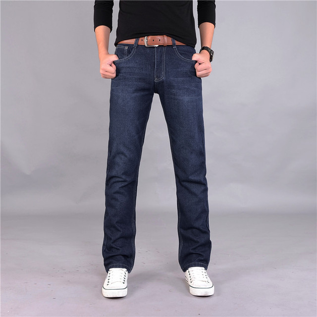 YUANHUIJIA 2016 Middle-aged men big size 28-38 casual brand spring straight jeans man pants autumn long cowboy trousers