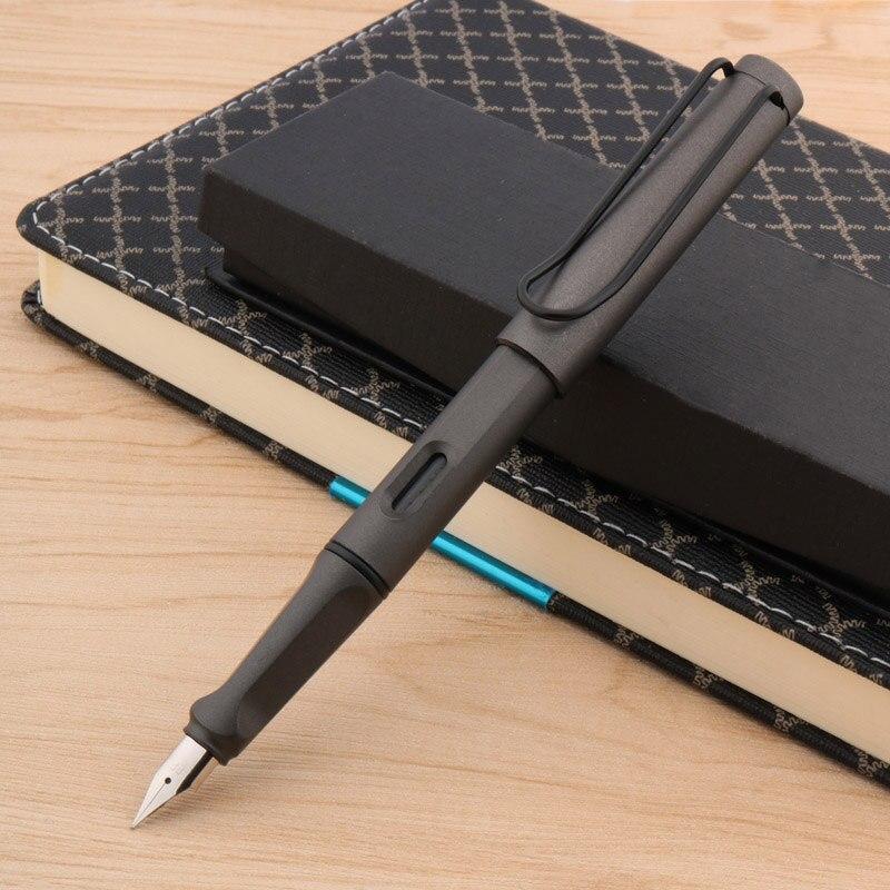 Classic Office Plastic Matte Gray Popular Student EF Gift Fountain Pen