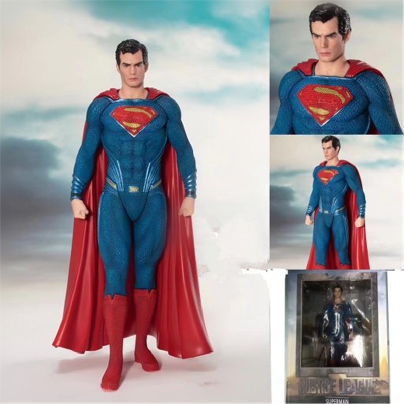 ARTFX + STATUE Justice League Superheros Superman Pre-Painted PVC Action Figure Collectible Model Toys Anime Figure Doll 19cm shf figuarts superman in justice ver pvc action figure collectible model toy