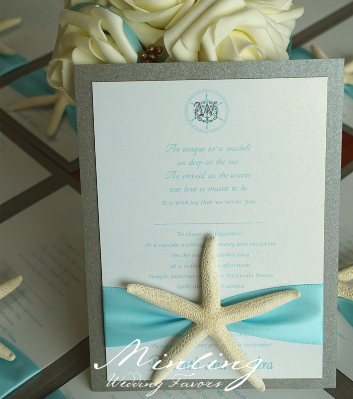Aliexpress Buy Handmade Beach Wedding Invitation Cards – Handmade Beach Wedding Invitations