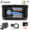 Podofo Car Multimedia DVD Player GPS Bluetooth 2 Din 7 Car Audio Touch MP5 Car Media