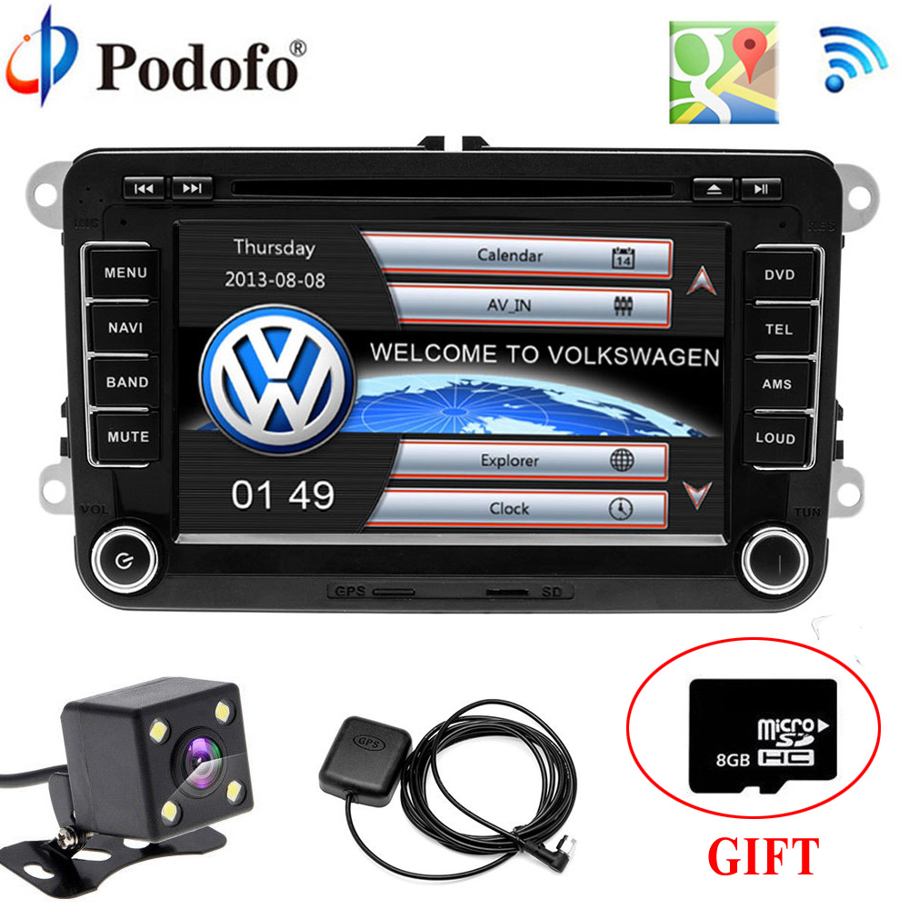 podofo car multimedia player autoradio 2 din car radio. Black Bedroom Furniture Sets. Home Design Ideas