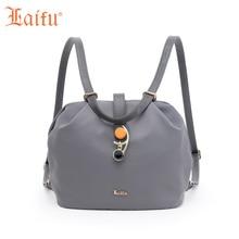 Laifu Нейлон Мини Для женщин рюкзак Обувь для девочек; сумка через плечо Повседневное рюкзак, серый, черный, ржавчины