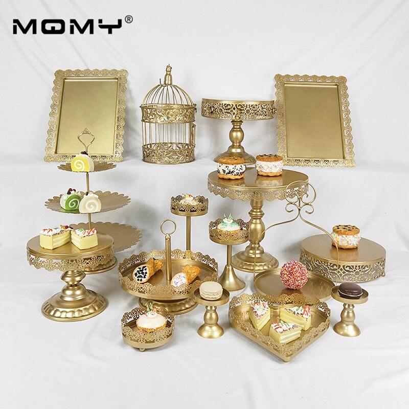 16 pièces décoration de mariage bonbons décoratifs en métal Cupcake tasse gâteau Stand