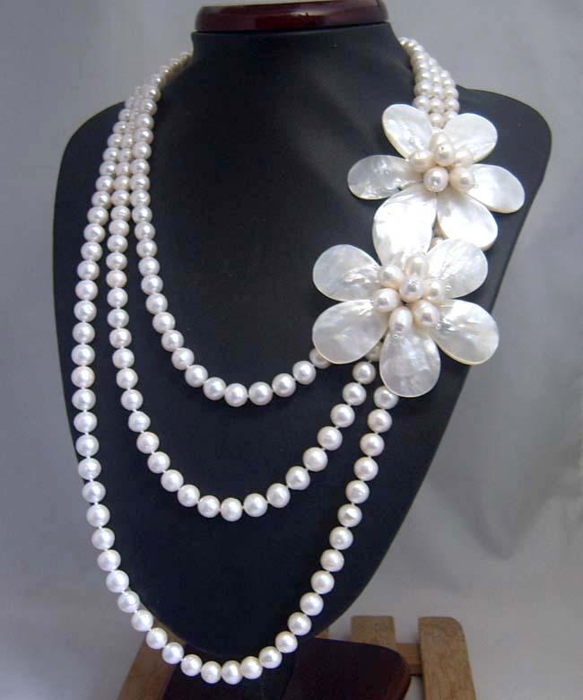 OAAPAAQ design collier de perles d'eau douce naturelles collier de perles de haute qualité collier de perles naturelles bijoux en argent