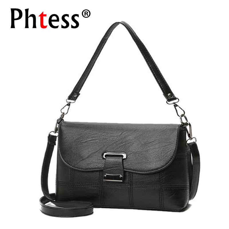 PHTESS High Quality Women Messenger Bags Crossbody Bags For Women Leather Handbags Shoulder Bag Sac a Main Luxury Small Handbags luxury handbags women bags designer pink shoulder messenger bag high quality pu leather crossbody bags for women 2017 sac mb02
