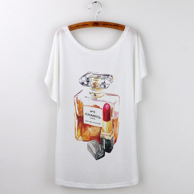 Perfume printing short sleeves lady T-shirt dames kleding summer k pop hip hop japan 2018 hot sell tunique femme bt21 t shirt