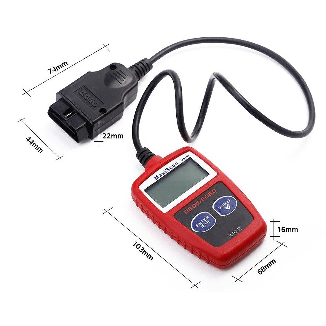 Prix pour Hotsale nouveau pour MaxiScan MS309 OBD2 OBDII Scanner lecteur de Code outil de Diagnostic de voitures