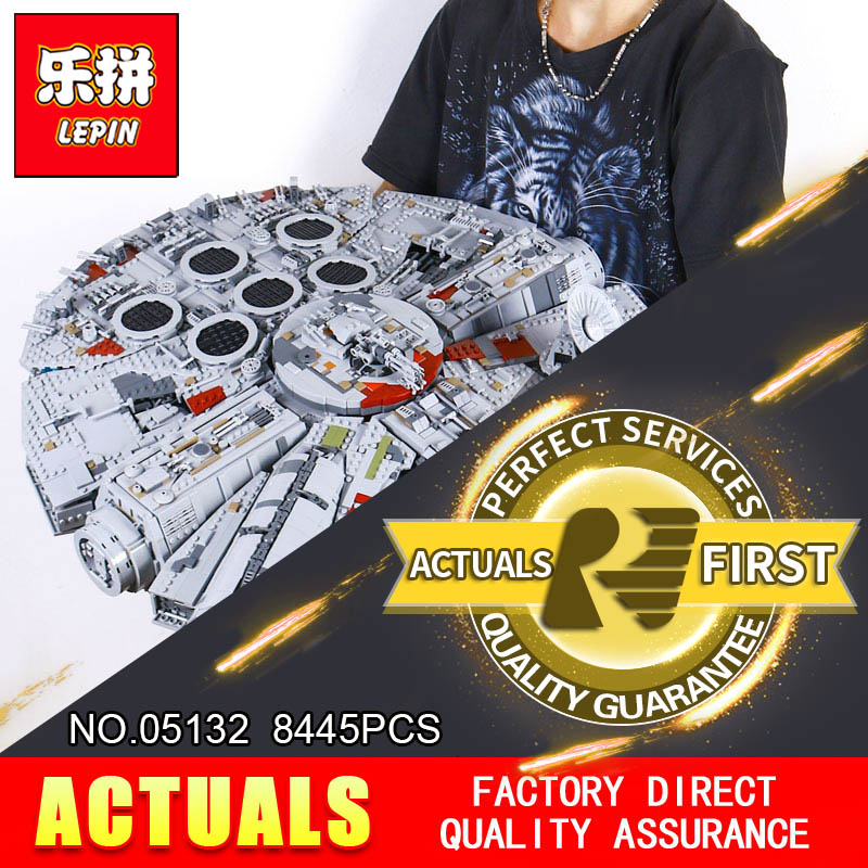 LEPIN 05132 New 8445Pcs Ultimate Collector's Destroyer Star Series Wars Building Blocks Bricks Children 75192 christmas gifts