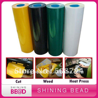 FREE SHIPPING BETTA FILM T SHIRT HEAT TRANSFER FLOCK VINYL FILM IRON ON 12 ColorS for TEXTILE GRAPHICS ROLL