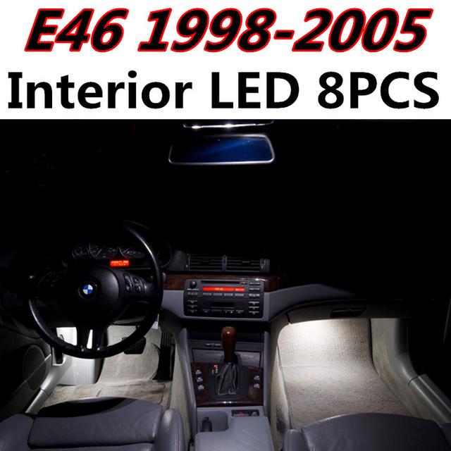 8 unids X envío gratis Free Error Kit de LED Luz Interior Paquete para BMW E46 1998-2005