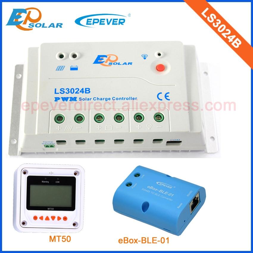 PWM 30A 30amps EPSolar LS3024B New LandStar series solar controller 12V 24V Auto work with MT50 and bluetooth BOX все цены