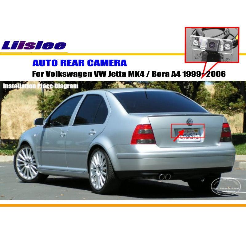 imágenes para Cámara de Visión Trasera Para Volkswagen VW Jetta MK4/Bora A4/Cámara de marcha atrás/CCD HD RCA NTST PAL/Luz de la Matrícula del OEM