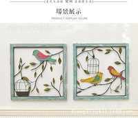 Creative Retro To Do The Old Home Stereo Personalization Wooden Frame Wrought Iron Decorative Wall Painting